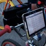 iPad and speakers get mounted on a bike