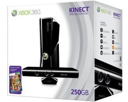 Xbox 360 250GB plus Kinect bundle, $399 in US, £300 in UK