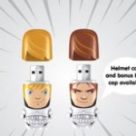 Luke Skywalker and Han Solo Stormtrooper Mimobot flash drives