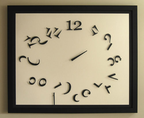 Order in Chaos clock is hard to read and cool at the same time ...