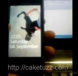 Samsung i8700 leaked on video