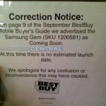 Best Buy backs off the Samsung Gem