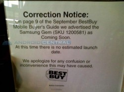 Best Buy backs off the Samsung Gem