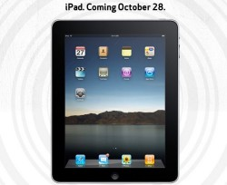 iPad to go on sale in Verizon Wireless and AT&T stores October 28