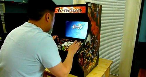 iPad Cardboard Arcade cabinet - SlipperyBrick.com