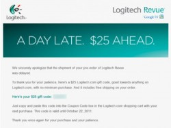Logitech offers $25 credit for delayed Revue pre-orders