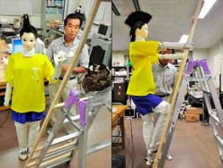 Man builds humanoid robot with a mohawk to kill Wasps
