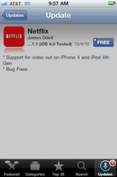 Netflix adds video out support to iPhone 4, fourth gen iPod touch