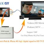 NOOSY HDMI adapter for iPad, iPhone 4 and iPod touch