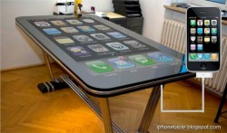 58-inch Table Connect for iPhone multitouch makes your iPhone giant