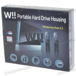 W!! External Hard Drive Casing looks like a Nintendo Wii