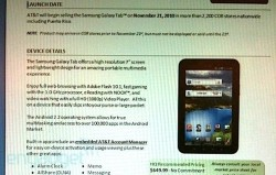 AT&T Galaxy Tab to arrive on Nov 21st for $649
