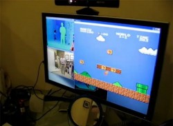 Kinect used to control Super Mario on a PC