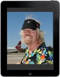 Richard Branson launching Project Magazine for iPad