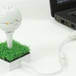 Golf ball-shaped speakers