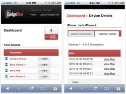 GadgetTrak lets you track your iPad or iPhone's location