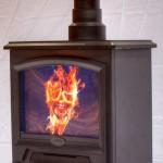 Fireplace computer casemod
