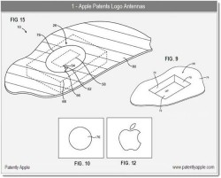 Apple Patent App shows antennas behind the Apple Logo
