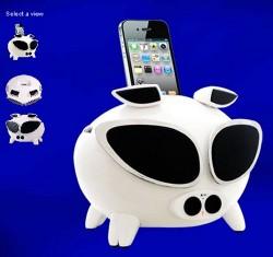 Cool iPig Motion-Sensing iPhone, iPod Speaker Dock