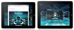 iPad's first iAd is for Tron Legacy fans