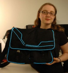 DIY Tron messenger bag