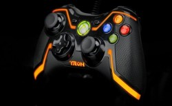 Xbox 360 limited edition orange Tron controller