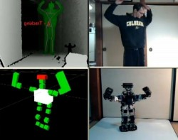 Kinect used to control a robot