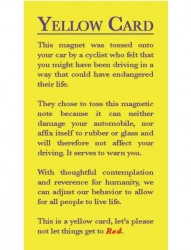 Car almost run you over? Throw these cards at reckless drivers
