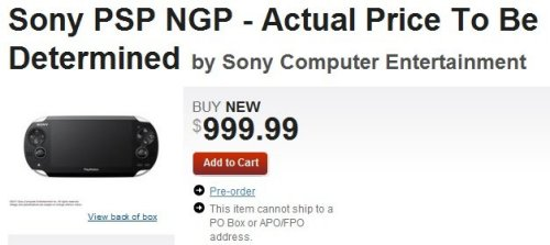 How Much Are Psp : Gamestop guesses that sony psp ngp will cost
