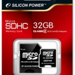 Silicon Power 32GB Class 4 microSDHC Card