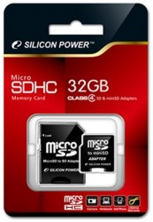 Silicon Power 32GB Class 4 microSDHC Card