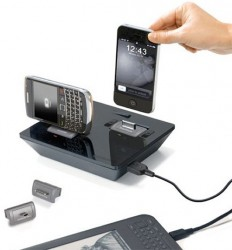 Idapt i2+ universal charging dock will charge your Nexus S and your iPhone 4