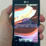 LG Optimus 3D spotted live