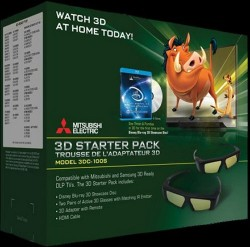 Mitsubishi 3DS-100S 3D Starter Pack for older Samsung and Mitsubishi 3D TVs