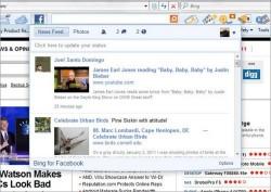 Microsoft Bing toolbar integrates Facebook