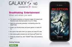 T-Mobile announces the Samsung Galaxy S 4G