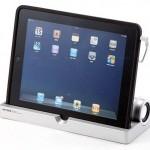 Sanwa iPad Stand with Stereo Speaker
