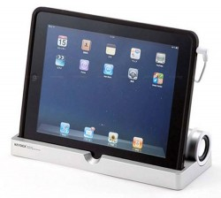 Sanwa iPad Stand with Stereo Speaker