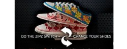 Zipz Shoes let you zip your shoes on and off