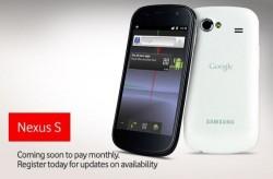 White Nexus S coming soon to Vodafone