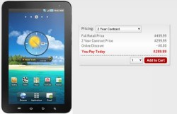 Verizon now offering 7-inch Galaxy Tab for $300 with a two-year contract
