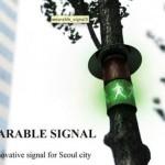 Flexible crosswalk lights that wrap around trees