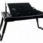 Thanko Notebook Desk with USB hub and LED lights