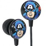Earbud Style Captain America Headphones