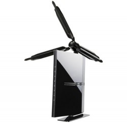Logitec's new wireless router looks like a wind turbine