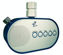 Green Shower Radio is powered by water