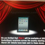 iPad 2 to be available at Radio Shack on Tuesday