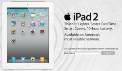 Verizon Wireless advertises iPad 2