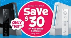 Nintendo Wii at Toys R Us and Best Buy for $169.99