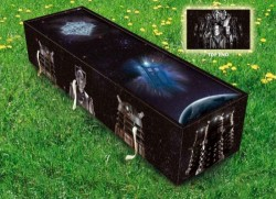 Dr. Who Coffin for the Timelord who has run out of time